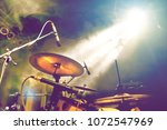 drum on stage.live music and... | Shutterstock . vector #1072547969