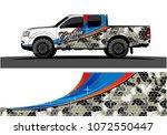 truck graphic vector. abstract... | Shutterstock .eps vector #1072550447