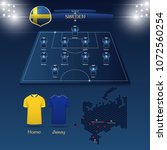 team sweden soccer jersey or... | Shutterstock .eps vector #1072560254