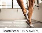 feet of woman dance with ballet   Shutterstock . vector #1072560671