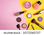 makeup products and decorative... | Shutterstock . vector #1072560737