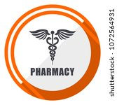pharmacy flat design orange... | Shutterstock .eps vector #1072564931