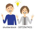 young couple inspiring | Shutterstock .eps vector #1072567421