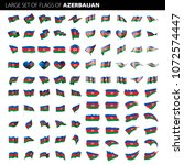 azerbaijan flag  vector... | Shutterstock .eps vector #1072574447