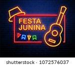 festa junina background place...   Shutterstock .eps vector #1072576037