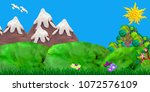 3d rendered game forest... | Shutterstock . vector #1072576109