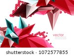 vector color glass crystals on... | Shutterstock .eps vector #1072577855