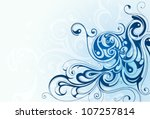 decorative abstraction with... | Shutterstock .eps vector #107257814