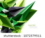 vector color glass crystals on... | Shutterstock .eps vector #1072579511