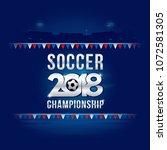 vector of soccer championship...   Shutterstock .eps vector #1072581305