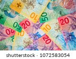 collection of the new swiss... | Shutterstock . vector #1072583054