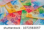 collection of the new swiss... | Shutterstock . vector #1072583057