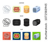 container for carrying animals...   Shutterstock .eps vector #1072583945