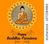 buddha purnima wishes vector... | Shutterstock .eps vector #1072584881