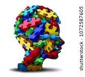 autism developmental disorder...   Shutterstock . vector #1072587605