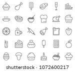 thin line icon set   coffee... | Shutterstock .eps vector #1072600217