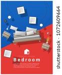 vertical interior banner sale... | Shutterstock .eps vector #1072609664