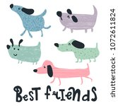 vector set if cute and simple... | Shutterstock .eps vector #1072611824