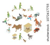 stray animals icons set....   Shutterstock .eps vector #1072617755