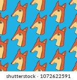 fox head animal character cute...   Shutterstock .eps vector #1072622591
