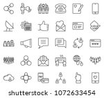 thin line icon set   globe... | Shutterstock .eps vector #1072633454