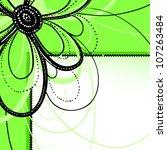 vector floral background | Shutterstock .eps vector #107263484