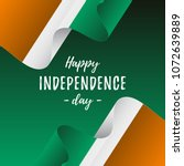 banner or poster of ivory coast ... | Shutterstock .eps vector #1072639889