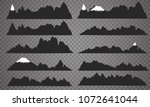 mountains silhouettes on the... | Shutterstock .eps vector #1072641044