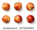 apples isolated on white... | Shutterstock . vector #1072644851