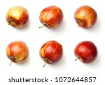 apples isolated on white... | Shutterstock . vector #1072644857