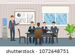 business people meeting in... | Shutterstock .eps vector #1072648751
