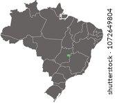 brazil map vector outline...   Shutterstock .eps vector #1072649804