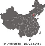 china map vector outline...   Shutterstock .eps vector #1072651469
