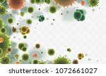vector background of viruses... | Shutterstock .eps vector #1072661027