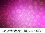 light pink vector cover with... | Shutterstock .eps vector #1072661819