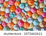 meringues with colorful... | Shutterstock . vector #1072662611