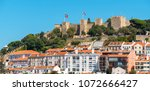panorama of alfama with saint... | Shutterstock . vector #1072666427