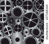 silver gears over black... | Shutterstock .eps vector #107268164