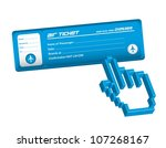 air ticket with hand cursor... | Shutterstock .eps vector #107268167