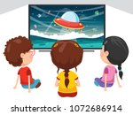 vector illustration of kid... | Shutterstock .eps vector #1072686914
