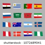 set of 16 grunge flags for...   Shutterstock .eps vector #1072689041