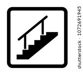 stairs vector icon. | Shutterstock .eps vector #1072691945
