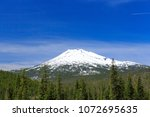 Small photo of North America, United States, Oregon, Eastern Oregon, Cascade Mountains, Deschutes National Forest, Mt Bachelor, Bachelor Butte. Stratovolcano.