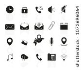 set of interface line icons... | Shutterstock .eps vector #1072696064