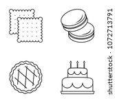 cookies icons set with... | Shutterstock .eps vector #1072713791
