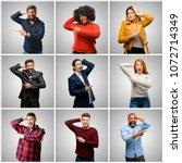 group of mixed people  women...   Shutterstock . vector #1072714349