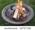 beautiful copper fire pit... | Shutterstock . vector #10727158