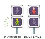pedestrian crossing traffic... | Shutterstock .eps vector #1072717421