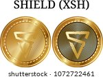 set of physical golden coin...   Shutterstock .eps vector #1072722461