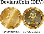 set of physical golden coin...   Shutterstock .eps vector #1072722611